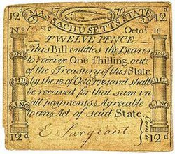 Colonial Currency, Georgia, $4, 1776 г