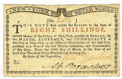 Colonial Currency, New York, 8 shillings, 1776 г